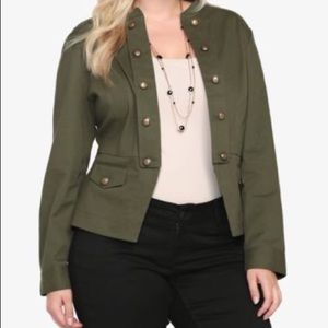 Torrid Green Military Army Light Jacket